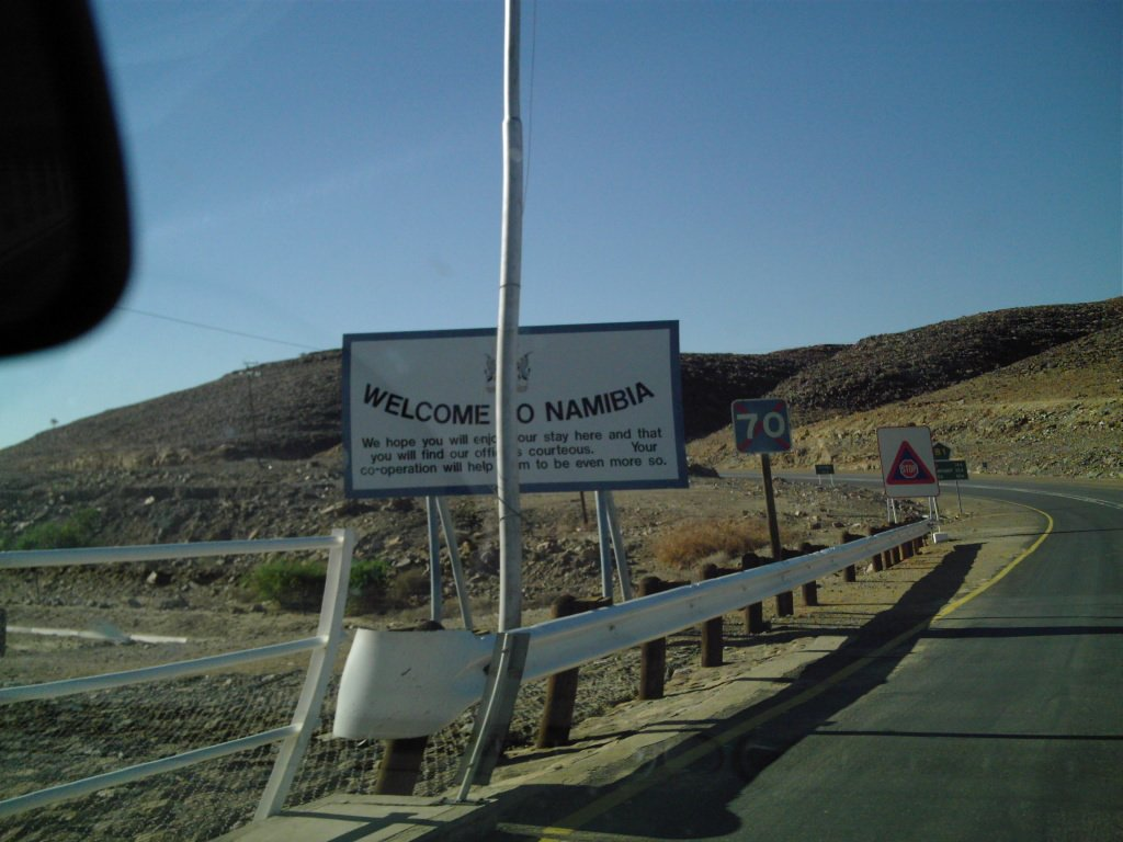 Entering Namibia
