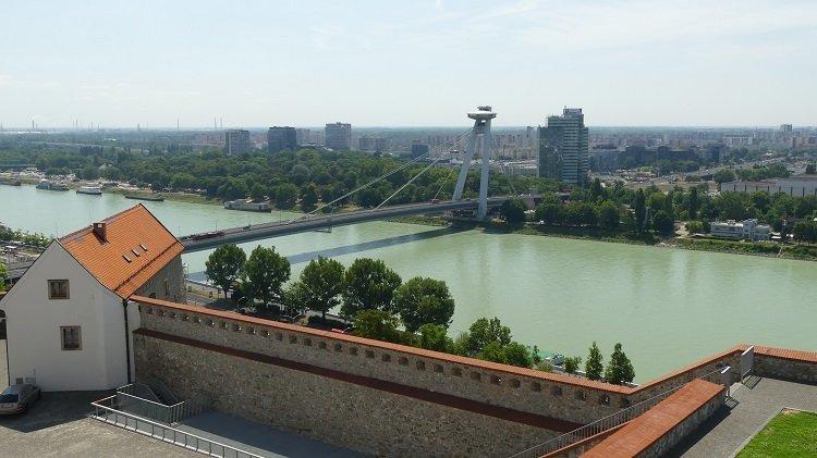 UFO Tower from Bratislava Castle