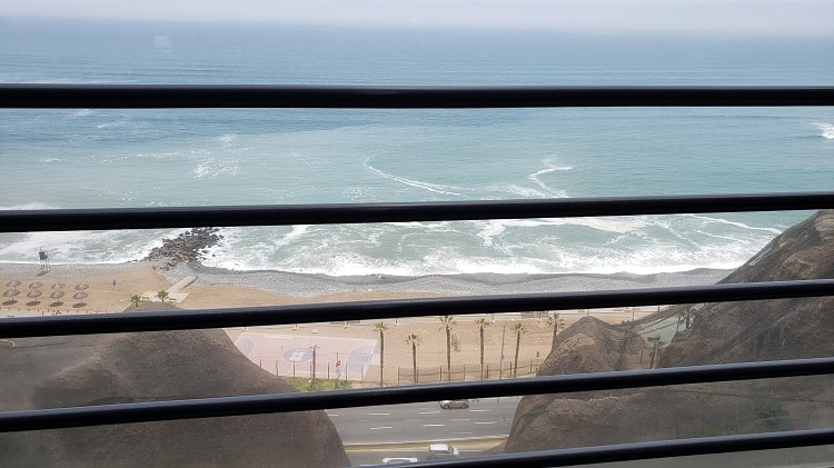 Lunch View from Larcomar Mall in Lima